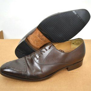 Gucci Brown Leather Wingtip Oxford Dress Shoes Men